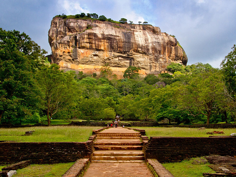 Ancient palace and fortress complex in Sri Lanka